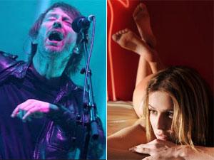 O vocal do Radiohead, Thom Yorke, e a atriz Deborah Secco (Foto: Divulgação)