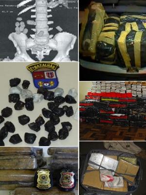 Paraná foi estado brasileiro que mais apreendeu maconha e cocaína em 2010. (Foto: Arte RPCTV)