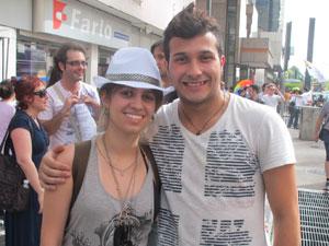 Os amigos (Foto: Gabriela Gasparin/G1)