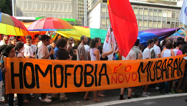 Manifestação percorreu a Avenida Paulista (Foto: Gabriela Gasparin/G1)