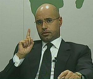 Seif Al Islam Khadafi culpou africanos, egípcios e imigrantes  ilegais pelo caos na Líbia (Foto: AFP)