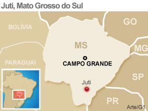 Mapa Juti (MS) (Foto: Arte/G1)
