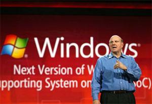 Steve Ballmer, durante anúncio de que Windows 8 seria usado em tablets (Foto: Reuters)
