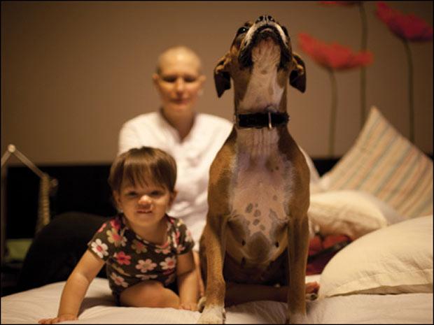 A filha de Eva tinha apenas 5 meses quando ela foi diagnosticada (Foto: Roberto Mata)
