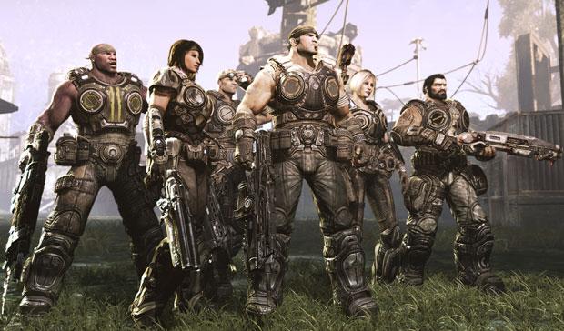 Esquadrão de 'Gears of War 3' (Foto: Divulgação)