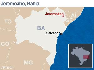 Mapa Jeremoabo (BA) (Foto: Arte/G1)