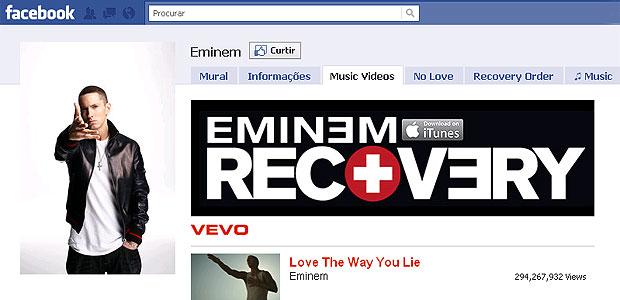 Eminem é o artista que usuários do Facebook mais curtiram (Foto: Reprodução)