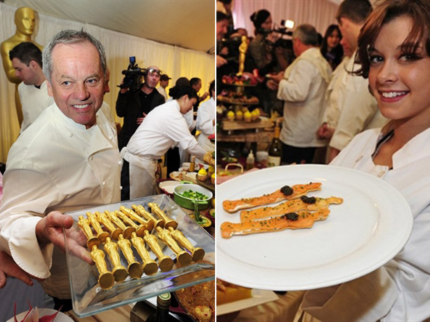 Chef Wolfgang Puck mostra menu do Oscar (Foto: Robyn Beck/AFP)