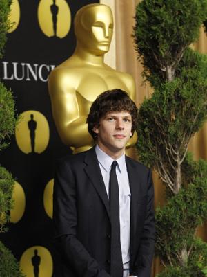 Jesse Eisenberg: jovem ator em sua primeira indicação. (Foto: Reuters)