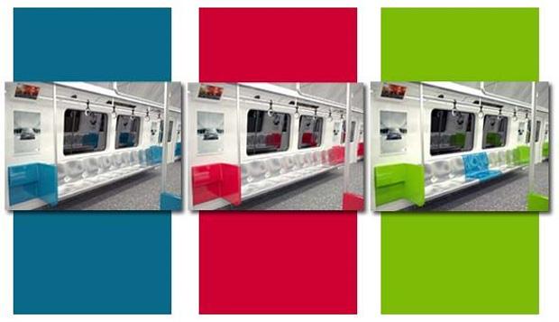 Usuários da linha podem escolher a cor do interior dos novos carros. (Foto: Reprodução/blog.metrorio.com.br)