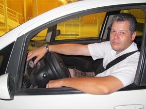 Taxista conta que já foi vítima de sequestro-relâmpago na Zona Sul de SP (Foto: Roberta Steganha/ G1)