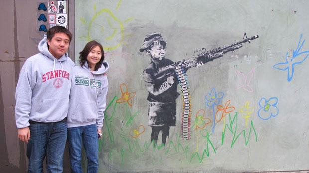 Hollywood procura grafiteiro Banksy desesperadamente (Gustavo Miller / G1)