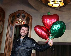 No primeiro vídeo, Lucas jogou sete balões por Barcelona (Foto: Divulgação)