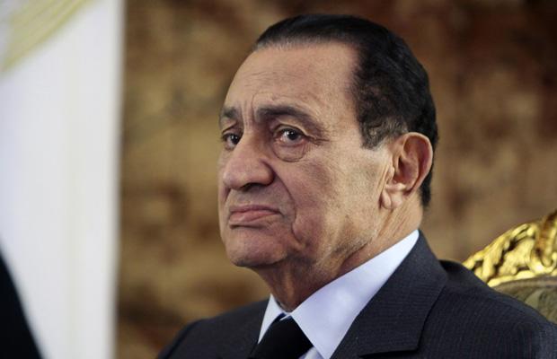 O então presidente do Egito, Hosni Mubarak, em 19 de outubro de 2010 (Foto: AP)