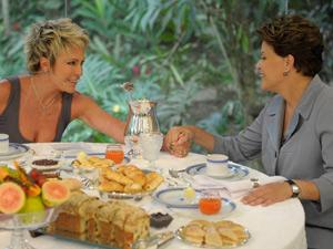 Dilma e Ana Maria Braga (Foto: TV Globo / Renato Rocha Miranda)
