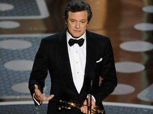 Colin Firth vence o Oscar (Foto: Mark J. Terrill/AP)