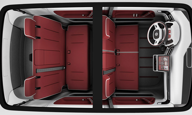 Volkswagen Bulli vem com iPad no console central (Foto: Divulgação)