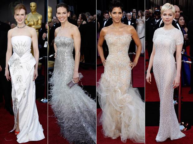 Atrizes no tapete vermelho do Oscar (Foto: AP/AP)