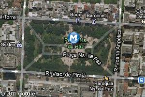 Localização da estação do metrô Praça Nossa Senhora da Paz (Foto: Arte G1)