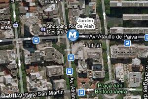 Localização da estação do metrô Jardim de Alah (Foto: Arte G1)
