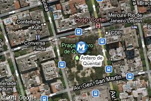 Localização da estação do metrô Antero de Quental (Foto: Arte G1)