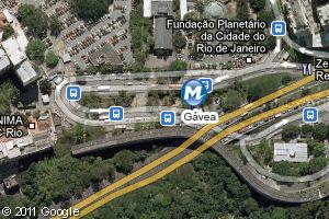 Localização da estação do metrô Gávea (Foto: Arte G1)