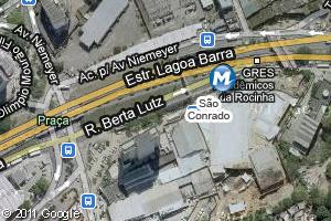 Localização da estação do metrô São Conrado (Foto: Arte G1)