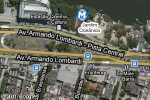 Localização da estação do metrô Jardim Oceânico (Foto: Arte G1)