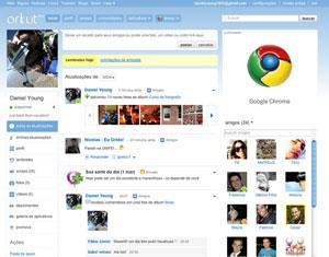 Repaginada do Orkut traz barra à esquerda (Foto: Divulgação)