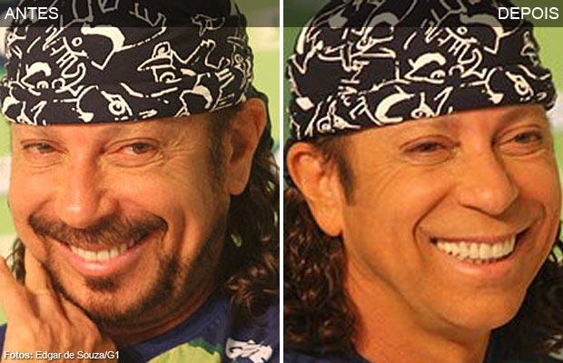 Bell Marques faz a barba antes do carnaval de Salvador, depois de 30 anos com o mesm o visual (Foto: Edgar de Souza/G1)