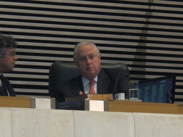 O presidente da Assembleia Legislativa, Barros Munhoz, que deve ser reeleito (Foto: Roney Domingos/ G1)