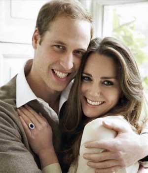 O príncipe William e sua noiva, Kate Middleton, em fotografia oficial do noivado (Foto: AP)