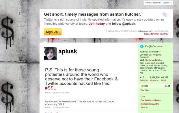 Duas mensagens afirmando que o perfis no Twitter são inseguros foram deixados pelo invasor (Foto: Reprodução)