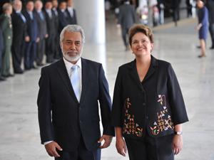 Presidenta Dilma recebe o primeiro-ministro e ministro da Defesa do Timor-Leste, Xanana Gusmão  (Foto: Antonio Cruz /ABr)