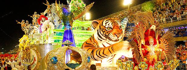 A Grande Rio (foto) foi a vice-campeã do carnaval em 2010 (Foto: Alziro Xavier / G1)