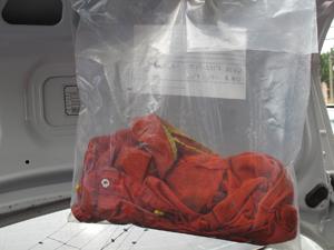 Polícia também apresentou a roupa que Lavína usava no dia do crime (Foto: Divulgação/ PCERJ)