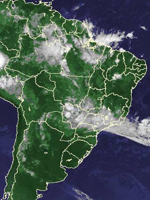 Imagem de satélite de quinta-feira (3) (Foto: Reprodução/Cptec/Inpe)