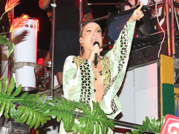 Claudia Leitte começa carnaval em salvador (Foto: Edgar de Souza/G1)