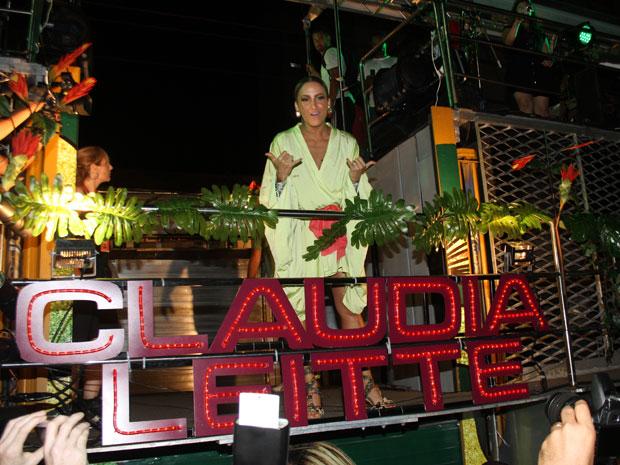 Claudia no trio (Foto: Edgar de Souza/G1)