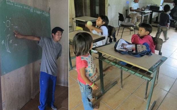 Escola Kaakupé em Santa Catarina (Foto: Fernanda Nogueira/G1)