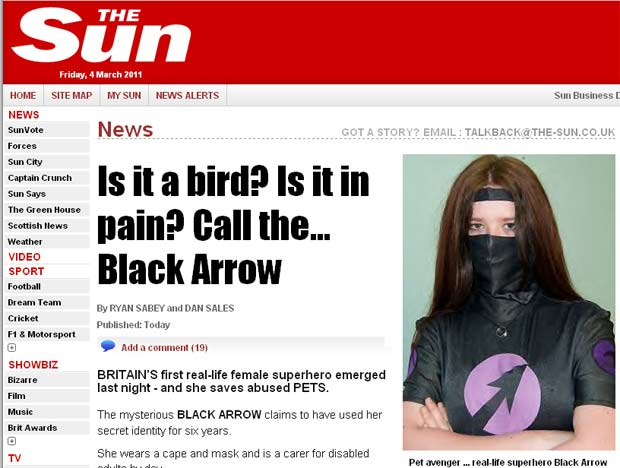 'Flecha Negra' salva animais de estimação de abusos. (Foto: Reprodução/The Sun)