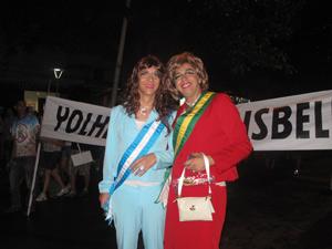 Presidentes na Banda de Ipanema (Foto: Alba Valéria Mendonça/ G1)