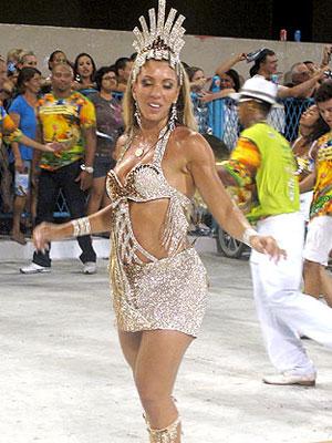 Andréia Andrade, rainha de bateria da Mocidade Independente (Foto: Rodrigo Vianna/G1)