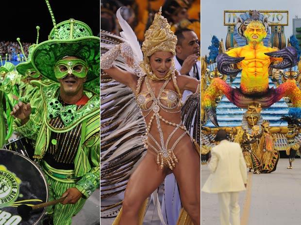 Mocidade, Gaviões e Império foram os destaques da segunda noite em São Paulo (Foto: G1)