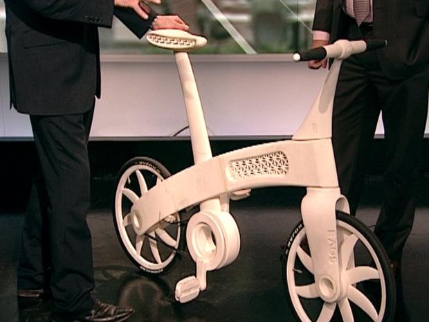 A bicicleta de nylon (Foto: BBC)