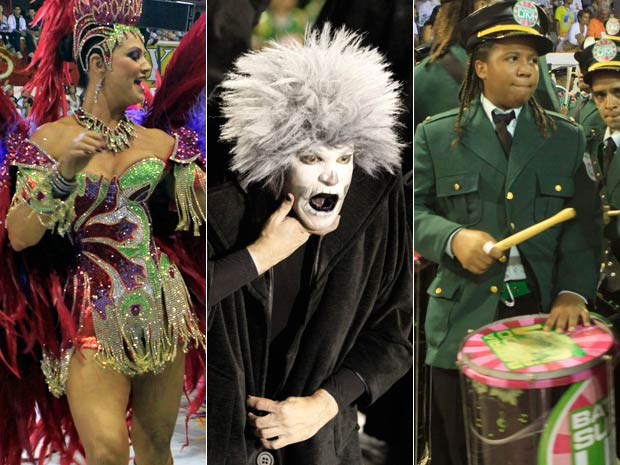 Imperatriz, Tijuca e Mangueira foram destaques da primeira noite de desfiles  (Foto: G1)