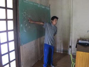 Índio Sergio Moreira, de aldeia em Biguaçu (SC) (Foto: Fernanda Nogueira/G1)