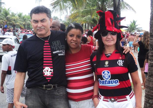 Maria Edivania Vieira no bloco Samba, Amor e Paixão, que tem Ronaldinho Gaúcho como um dos fundadores e presidente de honra, na Barra da Tijuca, nesta segunda-feira (7) (Foto: Maria Edivania Vieira/VC no Carnaval)