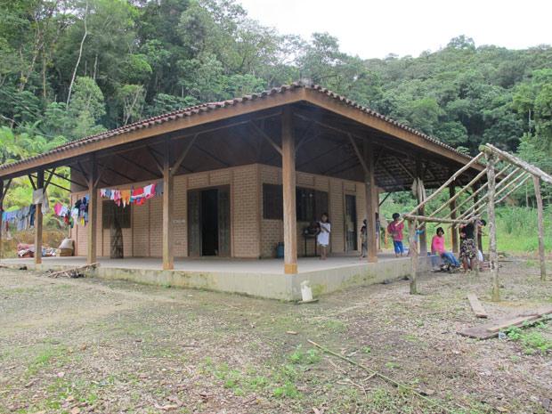 Escola indígena (Foto: Fernanda Nogueira/G1)