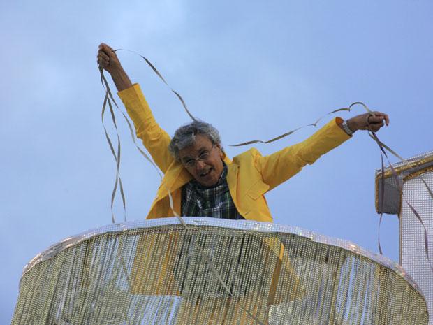 Caetano Veloso - desfile da Paraíso da Tuiuti no RJ (Foto: Divulgação / Riotur)